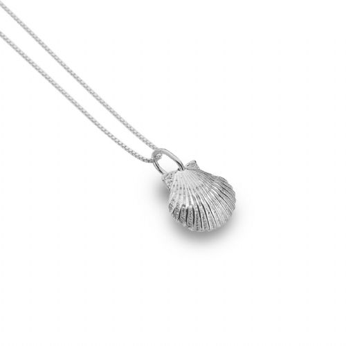Baby Scallop Shell Pendant Sterling Silver 925 Hallmarked All Chain Lengths